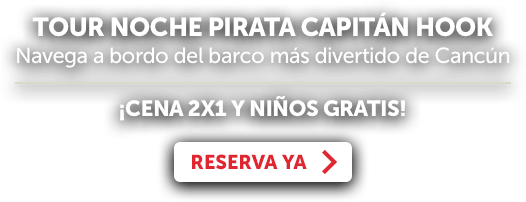Tour Barco Pirata Cancún Capitan Hook Oferta LD