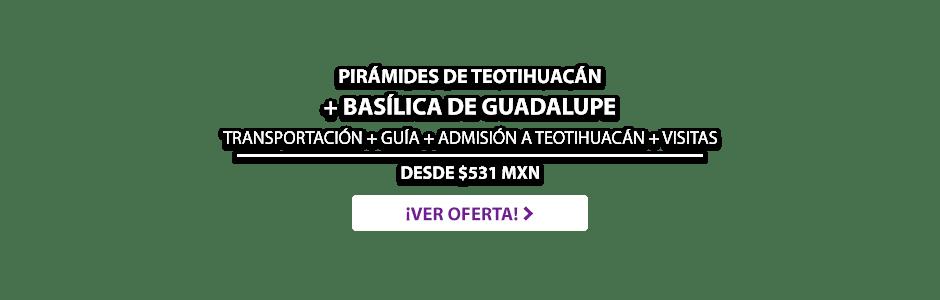 Tour Pirámides de Teotihuacán y Basílica de Guadalupe Oferta MD
