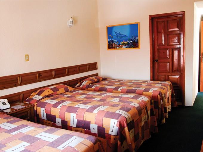Habitación triple Hotel Arrecife de Coral San Cristóbal de las Casas, Chiapas