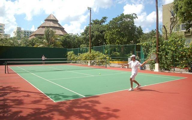 Como parte de las instalaciones podrás hacer uso de la cancha de tenis