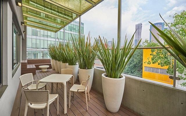 City Express Suites Anzures, hermosas vistas desde la terraza
