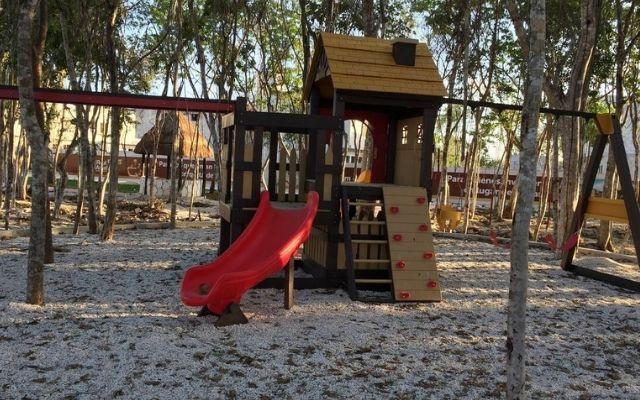 Departamento para Vacacionar en Playa del Carmen, área de juegos infantiles