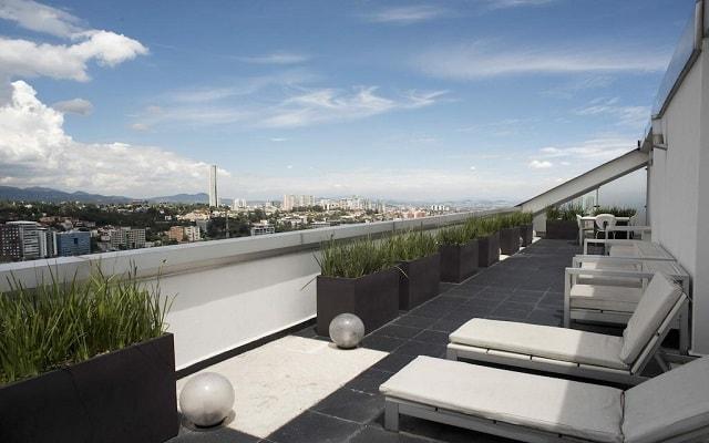 DoubleTree by Hilton Hotel Mexico City Santa Fe, vistas increíbles desde la terraza