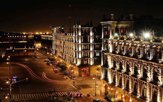 Gran Hotel Ciudad de México, vista nocturna