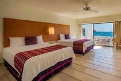 Habitación Deluxe Doble Dos Camas No Fumar con Piscina del Hotel Camino Real Zaashila