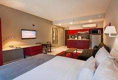Habitación Estudio Suite Sencilla del Hotel City Express Suites Cabo San Lucas