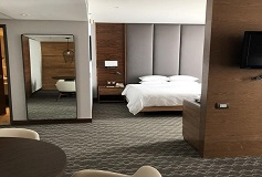 Habitación Premium Suite Una King del Hotel DoubleTree by Hilton Hotel Mexico City Santa Fe