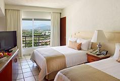 Habitación Superior Vista al Mar AI Dos Camas Dobles del Hotel Emporio Ixtapa