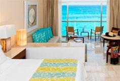 Habitación Junior Suite Frente al Mar del Hotel Hotel Grand Fiesta Americana Coral Beach Cancún