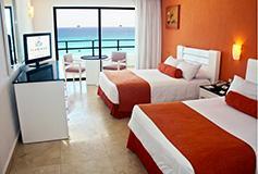 Habitación Deluxe Vista al Mar del Hotel Hotel Flamingo Cancún Resort