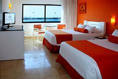 Habitación Deluxe del Hotel Hotel Flamingo Cancún Resort