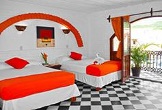 Habitación Estándar Cuádruple con Aire Acondicionado WiFi del Hotel Hacienda de Vallarta Centro
