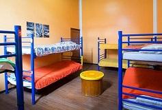 Habitación Dormitorio 8 Camas sólo Mujeres del Hotel Hostal Amigo