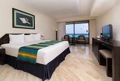 Habitación Estándar 1 King Vista Al Mar del Hotel Hotel Crown Paradise Club Cancún