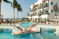Habitación Junior Suite Swim-Up Oceanfront - 1 King Bed del Hotel Hotel Hilton Playa del Carmen, an All-inclusive Resort