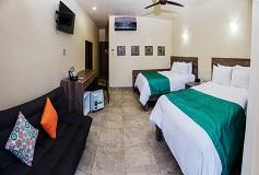 Habitación De Lujo Doble con Vista Parcial al Mar del Hotel Hotel Coral Blue Huatulco