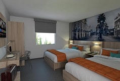 Habitación Estandar Dos Camas Matrimoniales No Reembolsable del Hotel Hotel Misión Express Durango