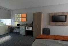 Habitación Estándar Una Cama Queen del Hotel Hotel Misión Express Durango