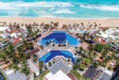Habitación Deluxe Vista Parcial al Mar 2 Matrimoniales del Hotel Hotel Now Emerald Cancún