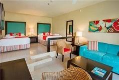 Habitación Junior Suite Doble Vista Tropical con Jacuzzi del Hotel Hotel Now Jade Riviera Cancún
