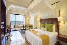 Habitación Preferred Club Junior Suite King Frente a la Playa del Hotel Hotel Now Sapphire Riviera Cancún