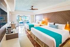 Habitación Gran Junior Suite con Acceso Directo a la Playa del Hotel Hotel Panamá Jack Resorts Gran Caribe Cancún