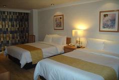 Habitación Estándar Dos Camas Matrimoniales del Hotel Hotel PF