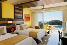 Habitación Junior Suite Ocean Front Double del Hotel Hotel Secrets Huatulco Resort and Spa