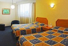 Habitación  Estándar Dos Camas Dobles del Hotel Hotel Valle de México