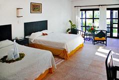 Habitación Garden View del Hotel Los Lirios Hotel Cabañas