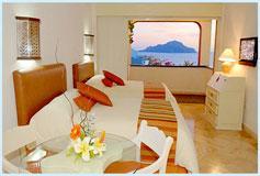 Habitación Junior Suite con Balcón Vista al Mar con Cocineta del Hotel Hotel Luna Palace Mazatlán