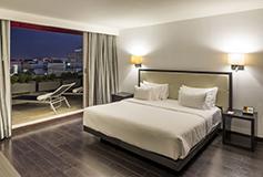 Habitación Superior con Terraza Flexible Premium con Desayuno del Hotel NH Collection Guadalajara Centro Historico
