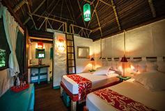Habitación Cabaña Triple del Hotel Rodavento Natural