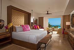 Habitación Junior Suite Partial Ocean View King del Hotel Secrets Akumal Riviera Maya