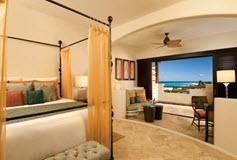 Habitación Junior Suite Vista Parcial al Mar del Hotel Secrets Maroma Beach Riviera Cancún