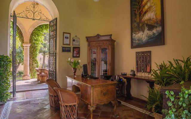 Esta hacienda conserva su aire colonial