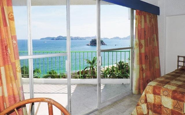 Hotel Acapulco Tortuga, todas las habitaciones cuentan con balcón