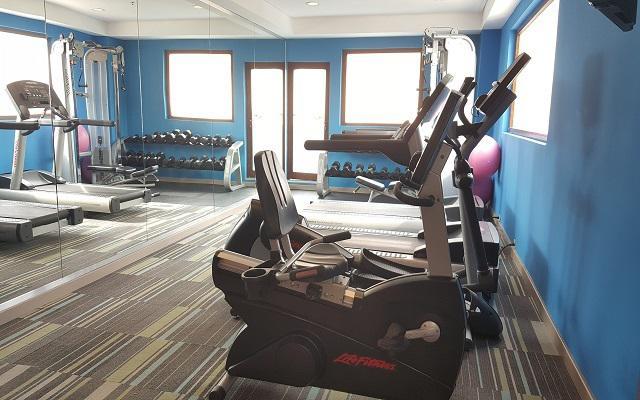 Hotel Aloft Cancún, gimnasio con equipamiento de primera calidad