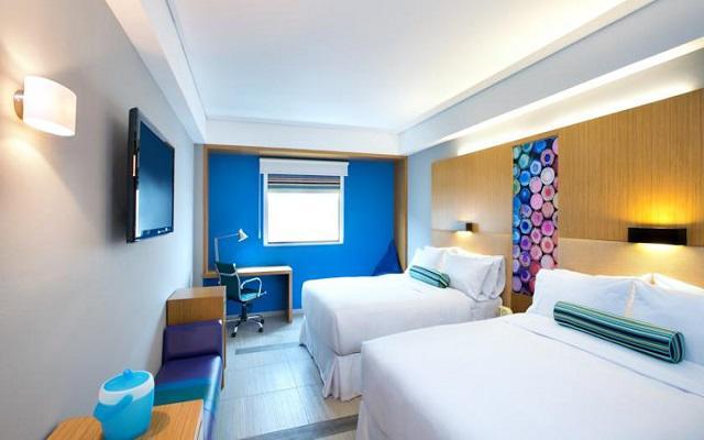 Hotel Aloft Cancún, habitaciones cómodas y acogedoras