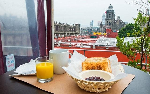 Hotel Amigo Zócalo, desayuna y admira hermosas vistas
