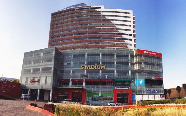 Hotel and Plaza Stadium en León