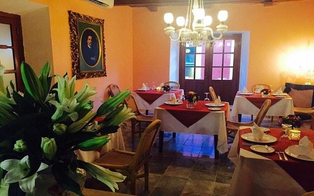 Hotel Boutique Casa Don Gustavo, buena propuesta gastronómica