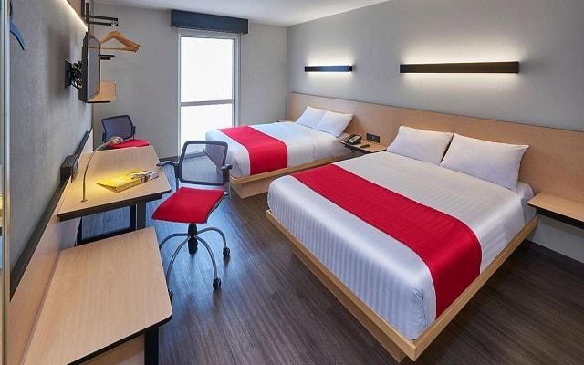 Hotel City Express La Raza, luminosas habitaciones