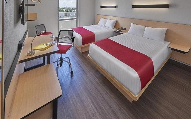 Hotel City Express Mérida, habitaciones cómodas y acogedoras