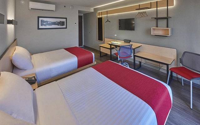 Hotel City Express Mérida, habitaciones bien equipadas