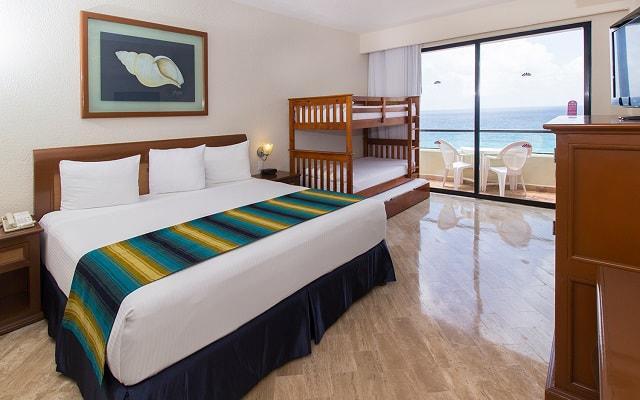 Hotel Crown Paradise Club Cancún, habitaciones bien equipadas