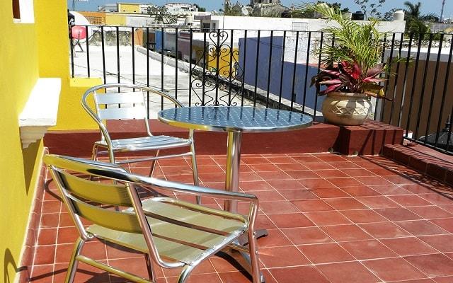 Hotel El Navegante, terraza