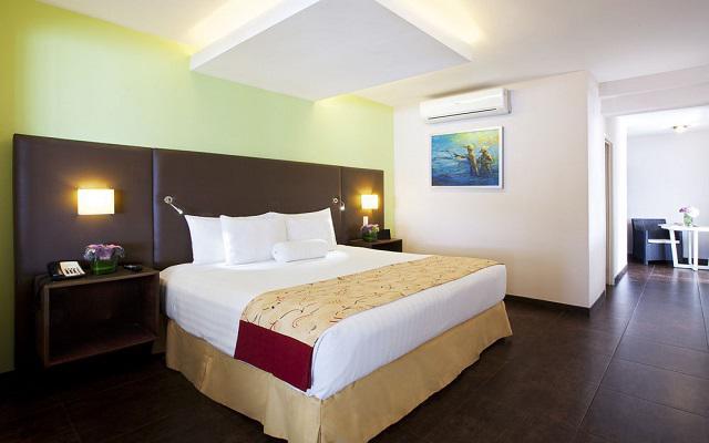 Hotel Emporio Mazatlán, amplias y luminosas habitaciones