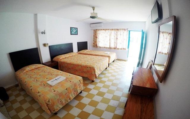 Hotel EMS Acuario Catemaco, amplias y luminosas habitaciones