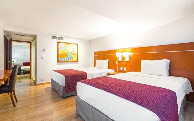 Hotel Eurostars Zona Rosa Suites, acogedoras habitaciones